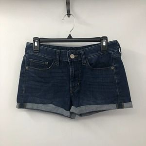 Express Shortie Low Rise Relaxed Jean Cuff Shorts